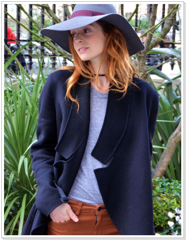 HATS-FASHION-WEEK-STREET-STYLE-STEPHANIE-LA-CAVA-FLOPPY-HAT-WOOL-JACKET-COAT-RED-HEAD-CHOKER