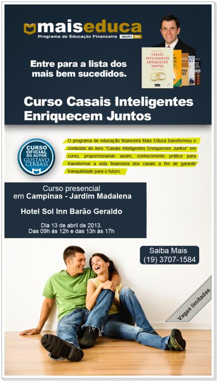 Curso Campinas - Jardim Madalena - 13 de abril de 2013