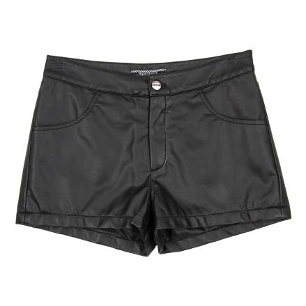 Handbook Fashion - Shorts de couro preto - R$119,99