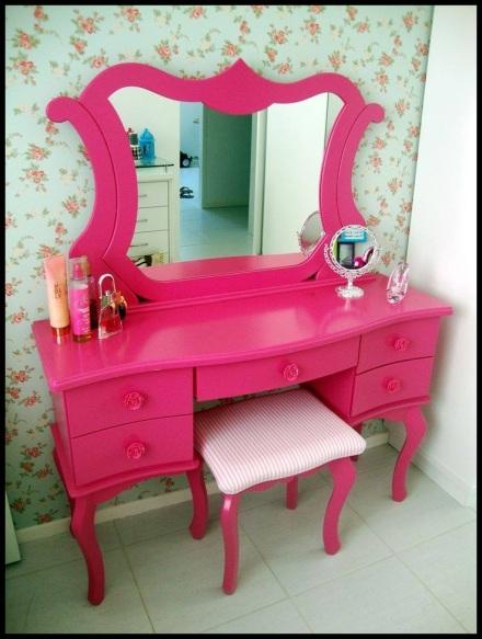 penteadeira-rosa-rustika-design